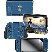 "Controller Gear The Legend of Zelda Breath of the Wild ""The Legend of Zelda"" Nintendo Switch Console Skin + Dock Skin + Joy-Con Grip Skin + Screen Protector Bundle Assortment - Nintendo Switch"