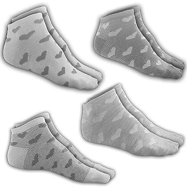 59761ee8ad Sneaker-Herzen-Socken VCA | 4 Paar | Größe 39-42 | 4 vers. Muster ...