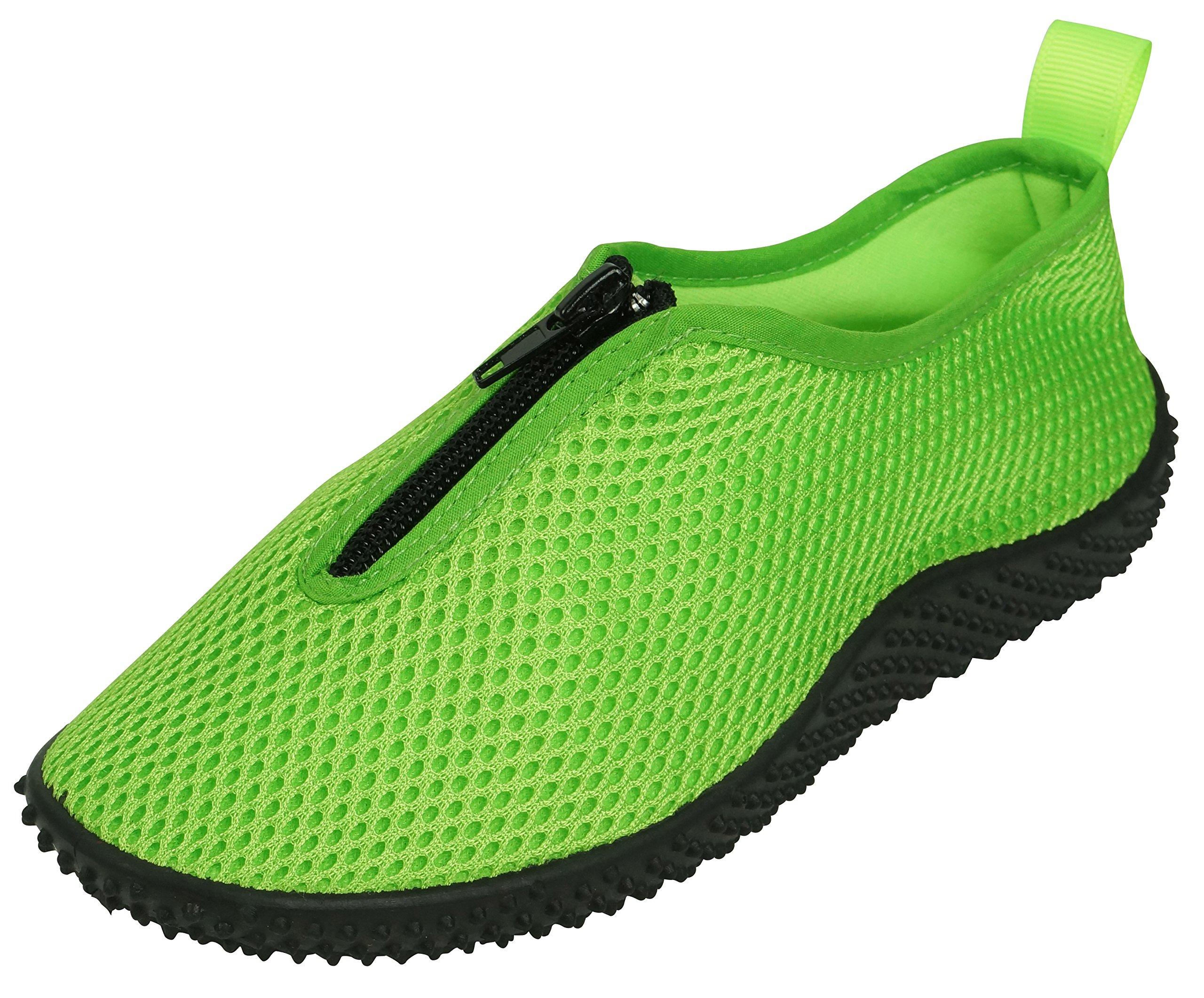 Cambridge Select Mesh Quick Dry Slip-On Water Shoe (Little Kid/Big Kid) (Large (3.5 Big Kid), Neon Green)