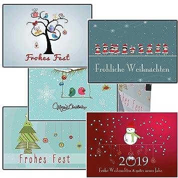 Weihnachtskarten-Set Grußkarten Weihnachten Weihnachtspostkarten ...