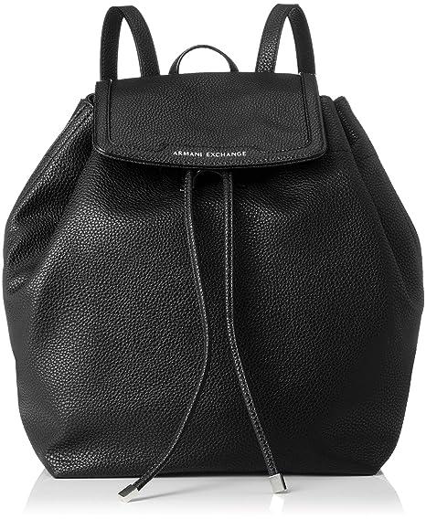 9c0016f4b2 ARMANI EXCHANGE Denim Backpack - Zaini Donna, Nero (Black), 31x15x49 cm (