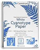 """Cyanotype 8"""" x 10"""" Paper - 12 pack (White)"""