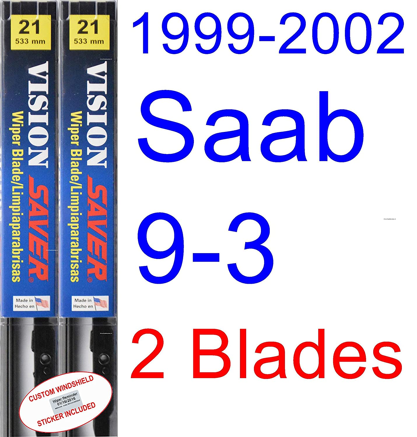 Amazon.com: 1999-2002 Saab 9-3 Wiper Blade (Driver) (Saver Automotive Products-Vision Saver) (2000,2001): Automotive