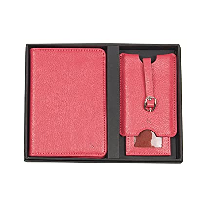 22afb530e16 Amazon.com  Cathy s Concepts Personalized Leather Passport Holder   Luggage  Tag Set