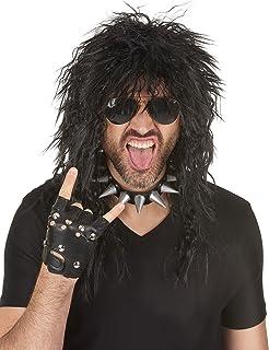 Peluca heavy rock hombre - Única: Amazon.es: Juguetes y juegos