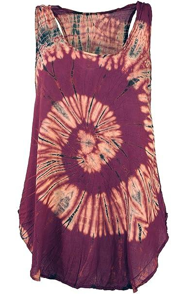 GURU-SHOP, Batik Top, Tank Top, Summer Top, Beach Top, Hippie Top, Rojo, Sintético, Tamaño:36, Camisetas, Camisetas, Camisetas: Amazon.es: Ropa y accesorios