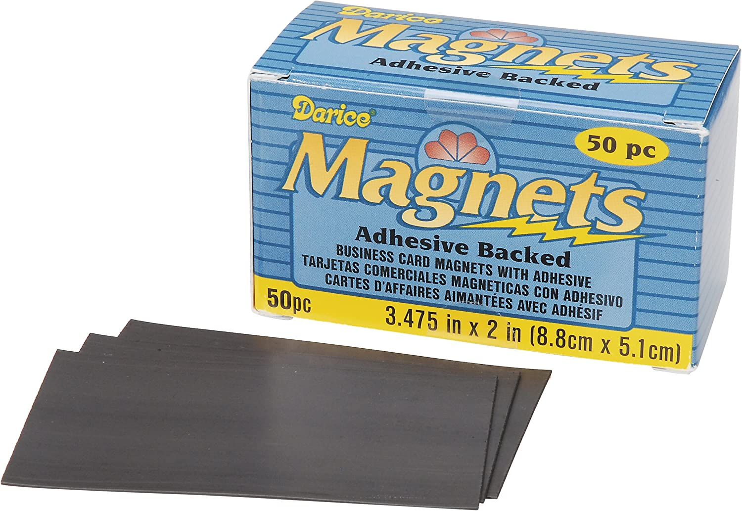 Darice 1017-78 Business Card Magnet, 3.475-Inch, 50-Pack