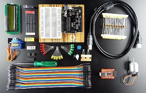 Robo India RIBK-R Arduino Starter Kit for Beginners, Builder?S Kit ...