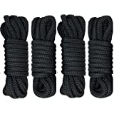 "Rainier Supply Co 4 Pack 15 Foot Premium Double Braided Nylon Dock Lines with 12"" Eyelet"