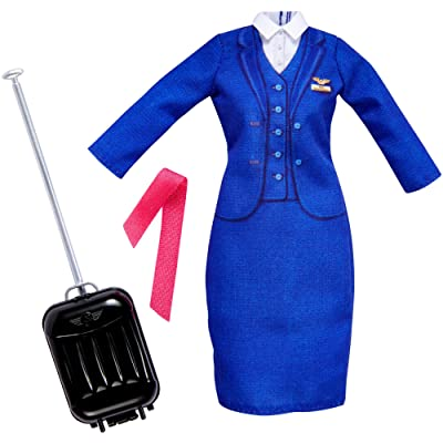 Barbie Careers Flight Attendant Fashion Pack: Toys & Games