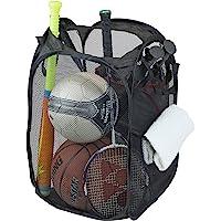 Simple Houseware Mesh Pop-Up Laundry Hamper Basket with Side Pocket, Black