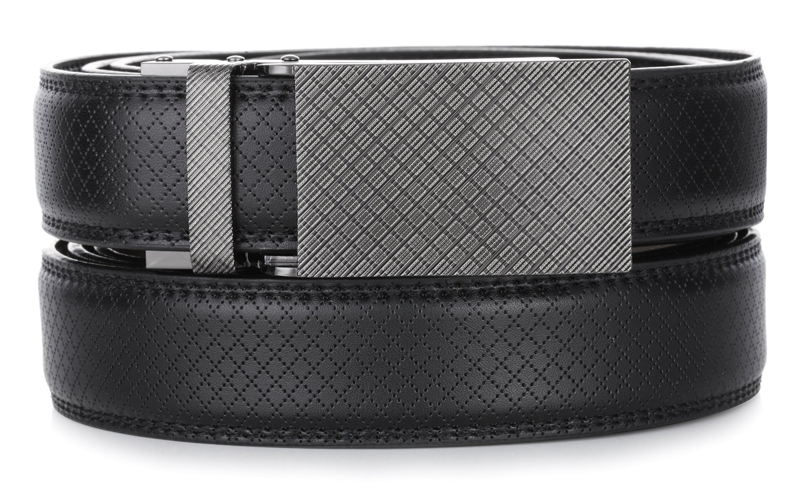 Gallery Seven Leather RatchetBelt For Men - Adjustable Click Belt - Black - Style 11 - Adjustable from 28'' to 44'' Waist by Gallery Seven (Image #6)