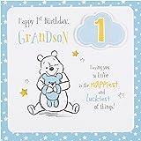 Grandson 1st birthday card elliot buttons amazon toys hallmark disney baby 1st birthday grandson card love medium square bookmarktalkfo Image collections