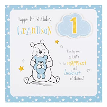 Amazon hallmark disney baby 1st birthday grandson card love hallmark disney baby 1st birthday grandson card love medium square bookmarktalkfo Image collections