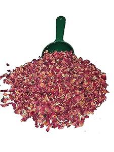 GodSpeed Premium Food/Culinary Grade A, Organic Dried Red Rose Buds And Petals 4 OZ. Bag