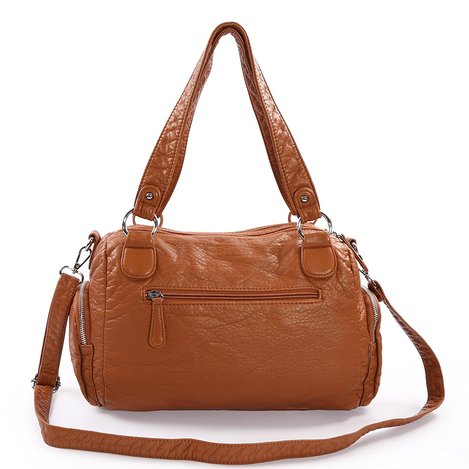 d3bce6ec55 Purses and Handbags - Angel kiss Women's Tote Handbag Water Resistant  Washed PU Leather Shoulder Messenger Bag With 2 Separated Compartments  (brown-2): ...