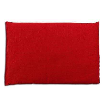Cojín de semillas de lino | 30x20cm | Rojo | Algodón bio ...