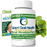 Chewable Oral Probiotics~Dentist Formulated 60 Tablet Bottle~Attack Bad Breath, Cavities And Gum Disease ~ Bad Breath Treatment ~Contains BLIS M18 and BLIS K12~Mint Flavor~83 Page eBook Included!