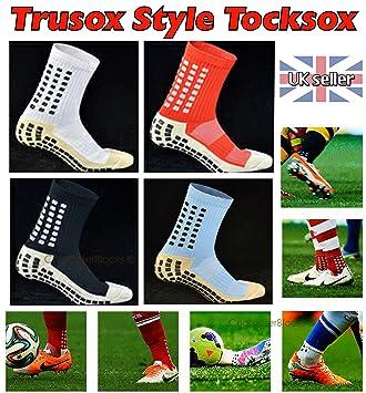 Trusox estilo tocksox tocksocks mitad de la pantorrilla fútbol fútbol deportes calcetines, Azure