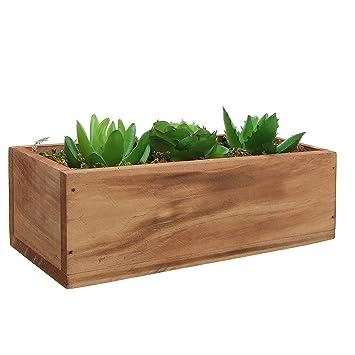 Great 3 Faux Succulent Plants U0026 Moss, Decorative Windowsill Wood Plant Container  Box