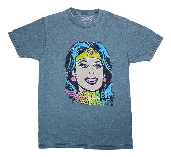 24003ec3b Jem Men's Wonder Woman Graphic Print Fashion T Shirt (Navy Heather, Small)