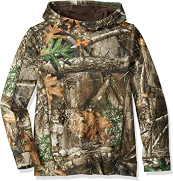 New Youth Boys Under Armour Realtree Athletic Shirt Size 6 Camo /& Orange