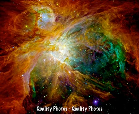 """Orion Nebula Astronomy Heart of Chaos Space Cosmic Cloud 8.5x11/"""" Photo Print"""