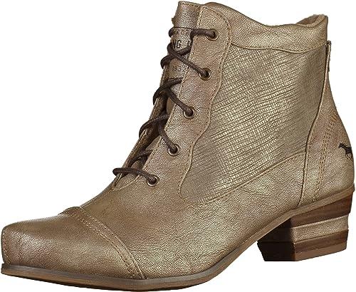 Mustang - botines de caño bajo Mujer , color dorado, talla 38: Amazon.es: Zapatos y complementos