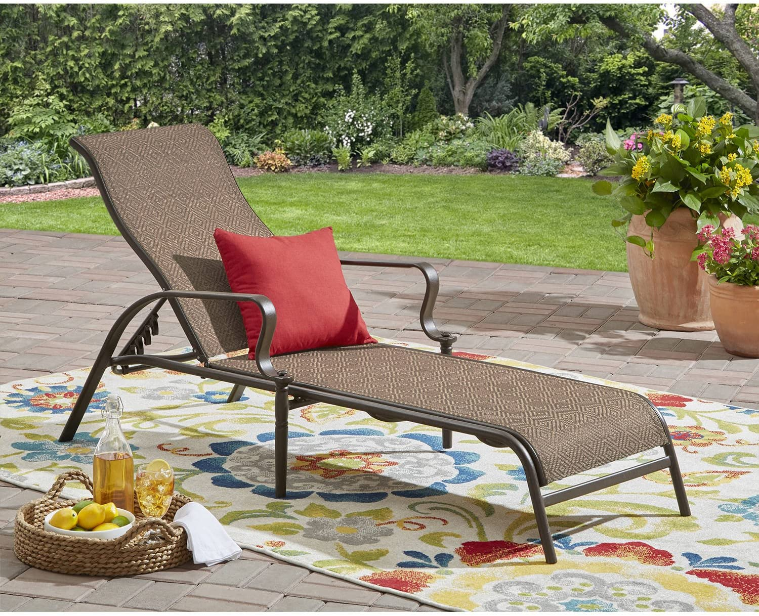 Mainstay Wesley Creek Sling Chaise Lounge (Brown)