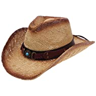 Enimay Western Outback Cowboy Cowgirl Hat Men's Women's Style Straw Felt Canvas