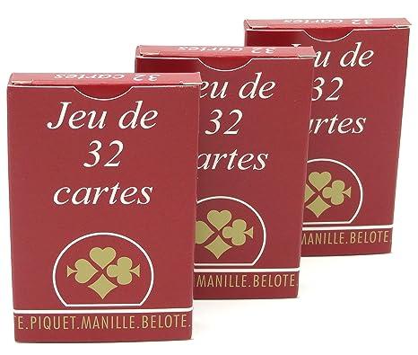 magasins populaires comment chercher choisir le dernier France Cartes Jeu de Compétition 32 cartes étui carton ...
