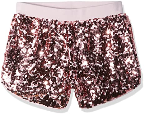 3a9566512 Amazon.com: GUESS Girls' Big Pull on Sequin Active Shorts: Clothing