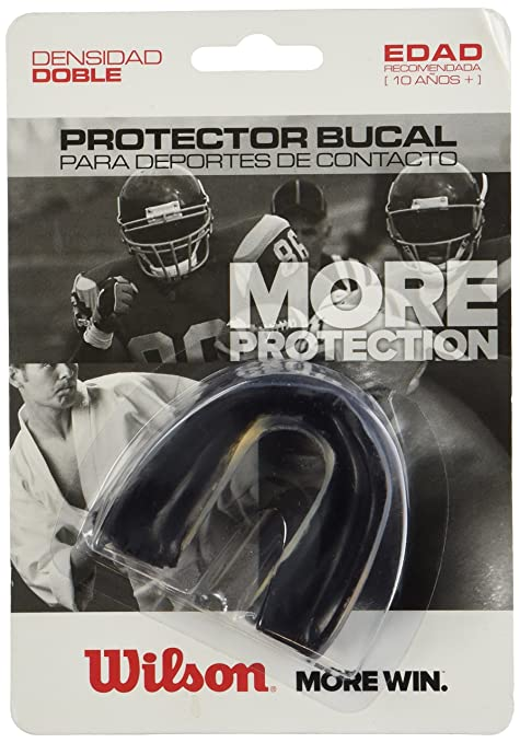 Amazon.com : Wilson Adult DD Mouth Guard No Strap (Black) : Football Mouth Guards : Sports & Outdoors