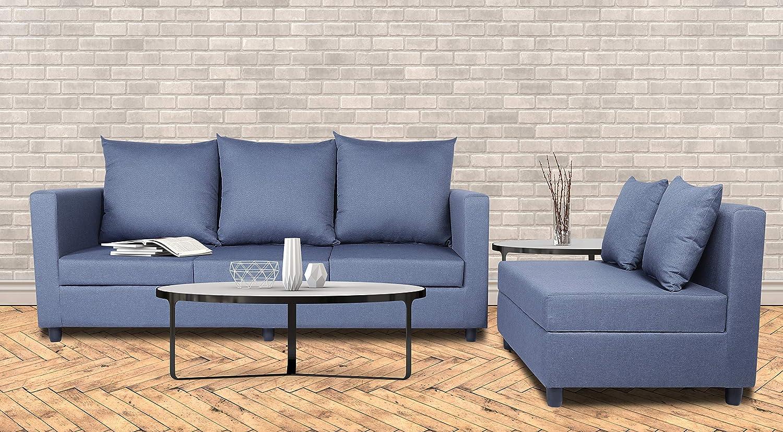 Adorn India Straight Line Modular Sofa set (Dark grey)