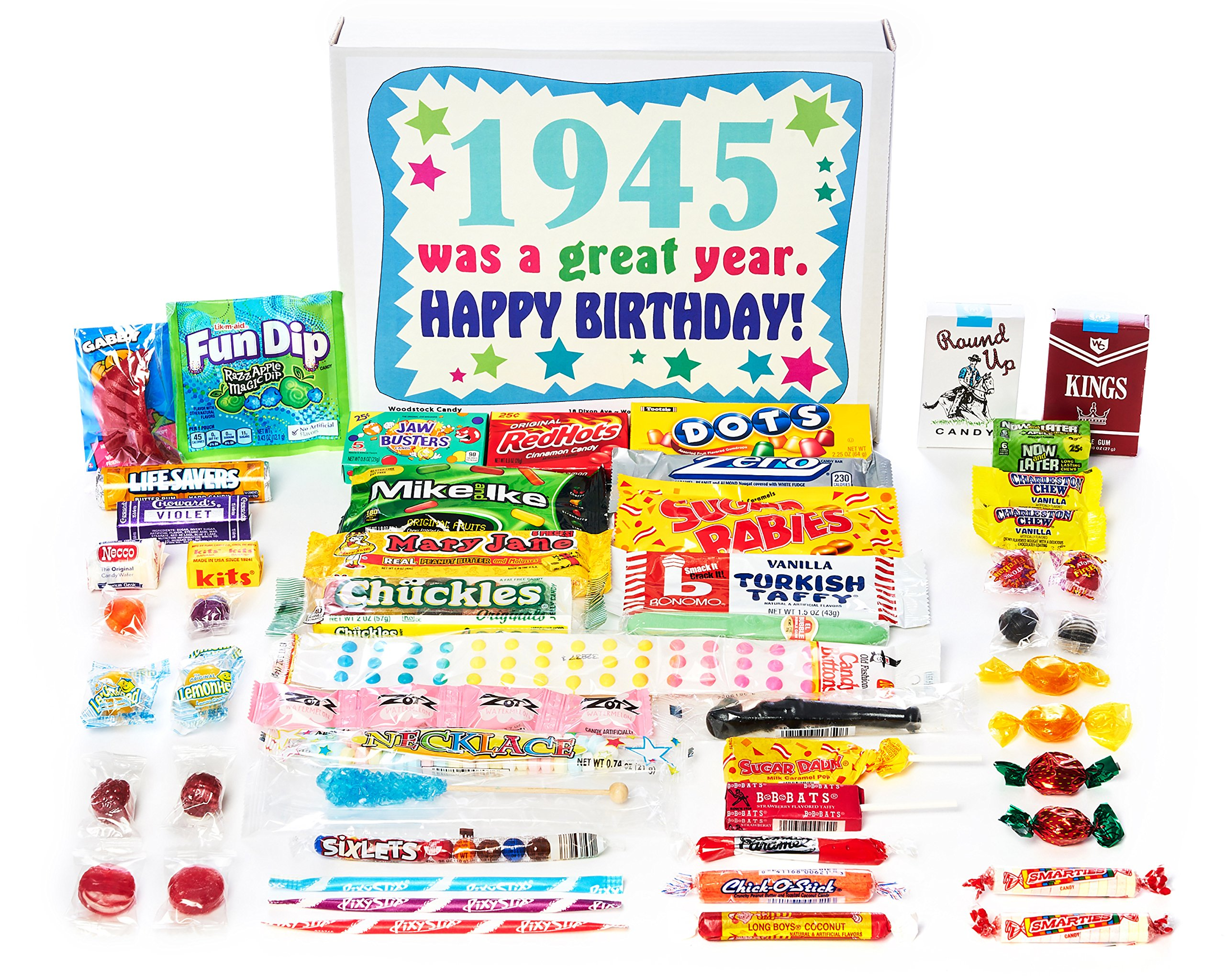 Woodstock Candy 1945 74th Birthday Gift Box Of Nostalgic Retro From Childhood For 74