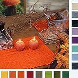 sander SPARPACK 4 Tischsets BREEZE Rips Baumwolle große Farbauswahl (52 - intensiv orange)