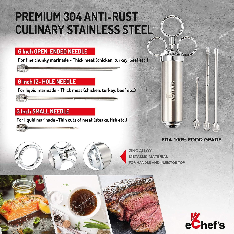 AmazonBasics Premium Acero Inoxidable Inyector carne marinada