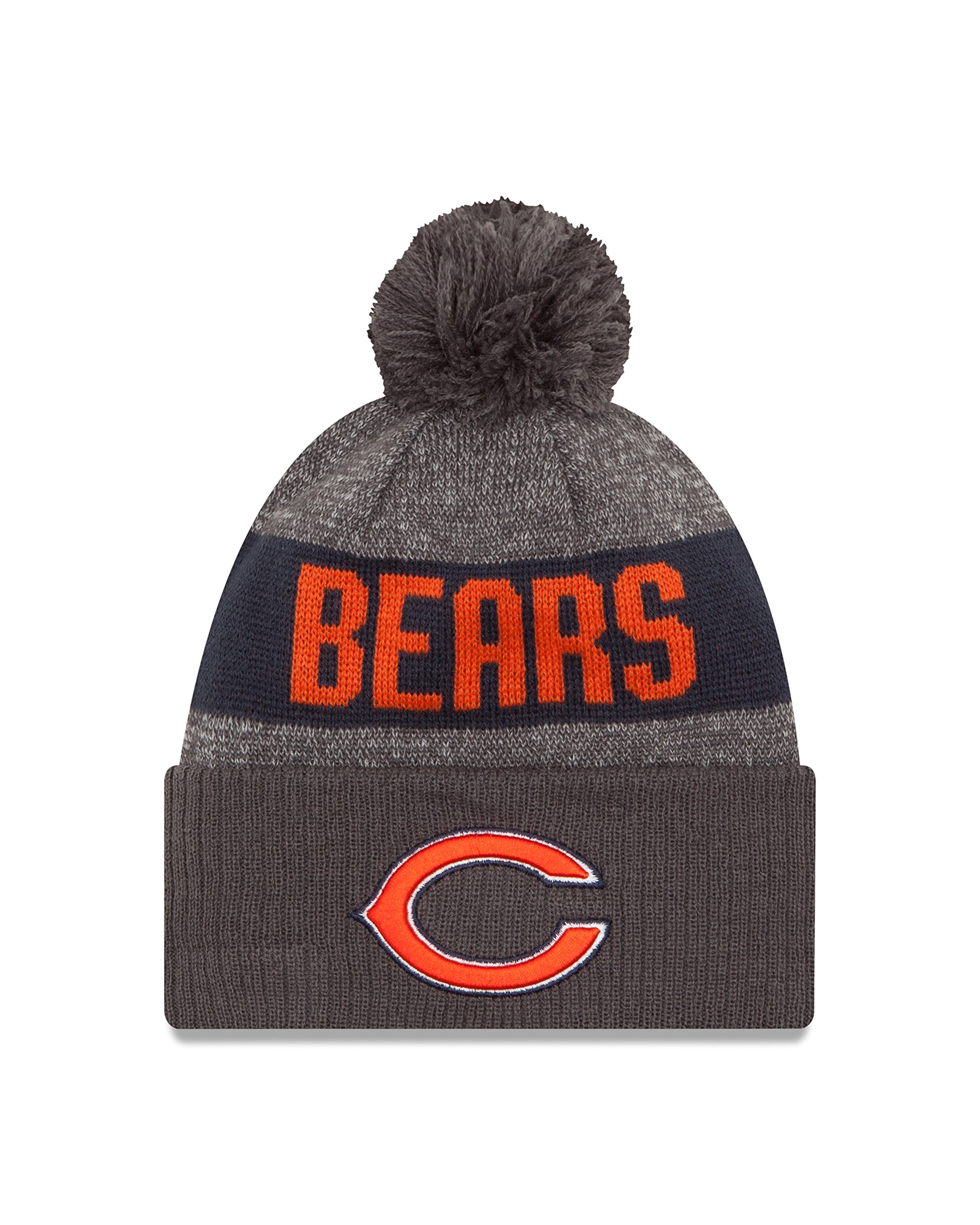 New Era NFL Chicago Bears 2016 Sport Knit Beanie, One Size, Graphite