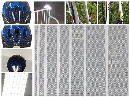 Hi Viz High Visibility Highly Reflective Safety Stickers Bikes Helmets Scooter