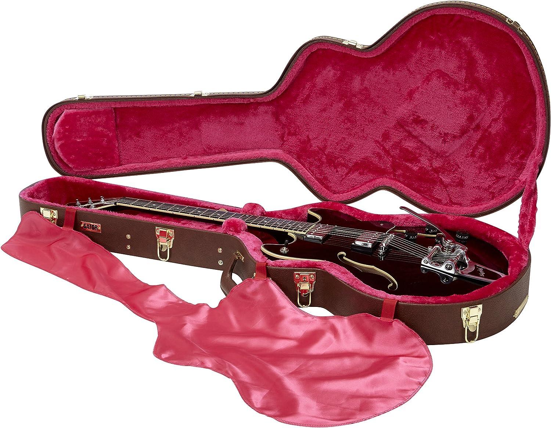Gator gw-335-brown Semi-Hollow caso de madera para guitarra, Tipo Gibson 335, Castaño: Amazon.es: Instrumentos musicales