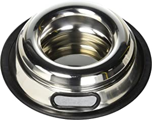 Indipets Stainless Steel Spill Proof No Tip Anti Skid Dish