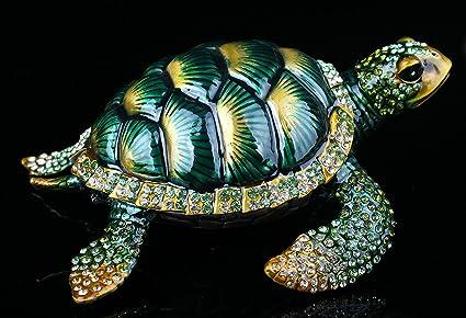 Souvenir Sea Tortoise Jewelry Trinket Box Decoration Vintage Animal Turtle Craft