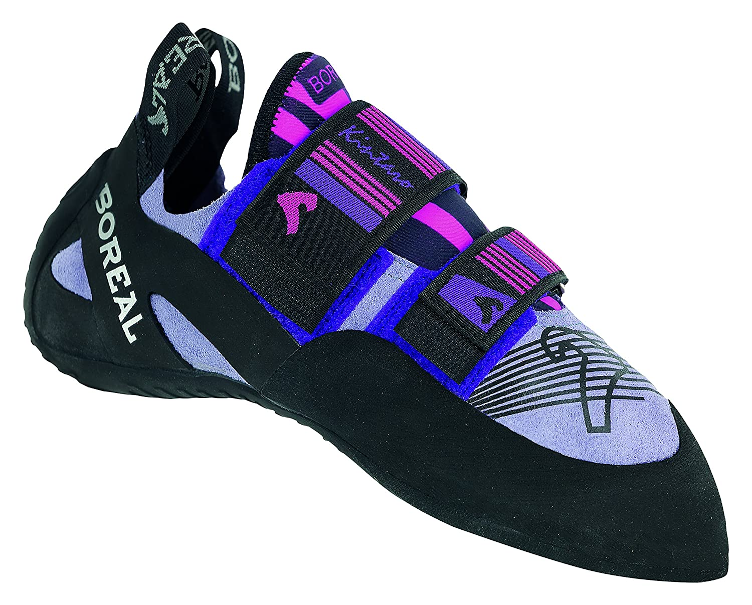 Boreal Climbing Shoes Womens Kintaro Leather Black Purple Pink 11563