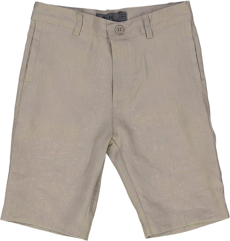 Boys Shorts Zip Off Flex Waist School Uniform Trousers Size 3-8t