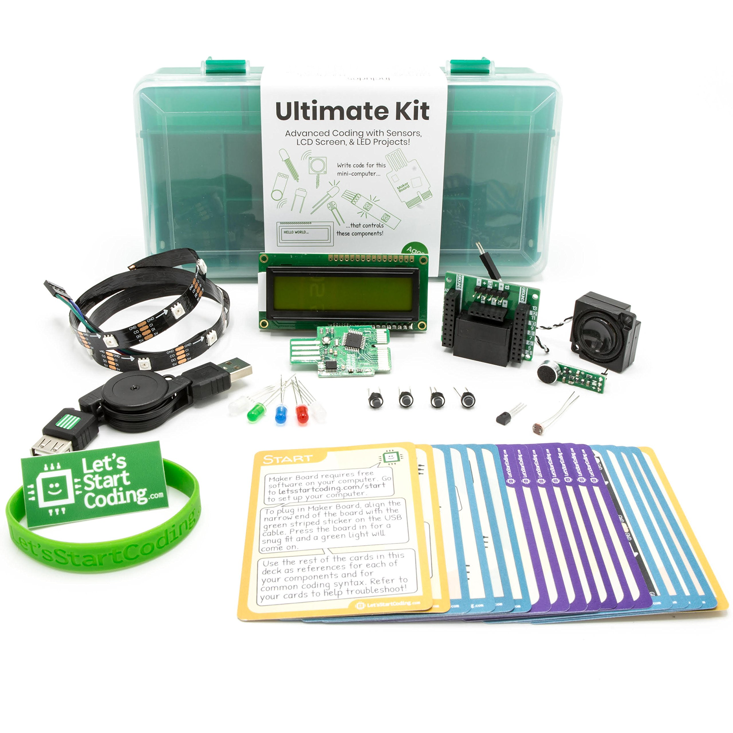 Ultimate Kit 2.0 from Let's Start Coding : Best Advanced Coding and Circuit Kit for Kids Aged 12-15