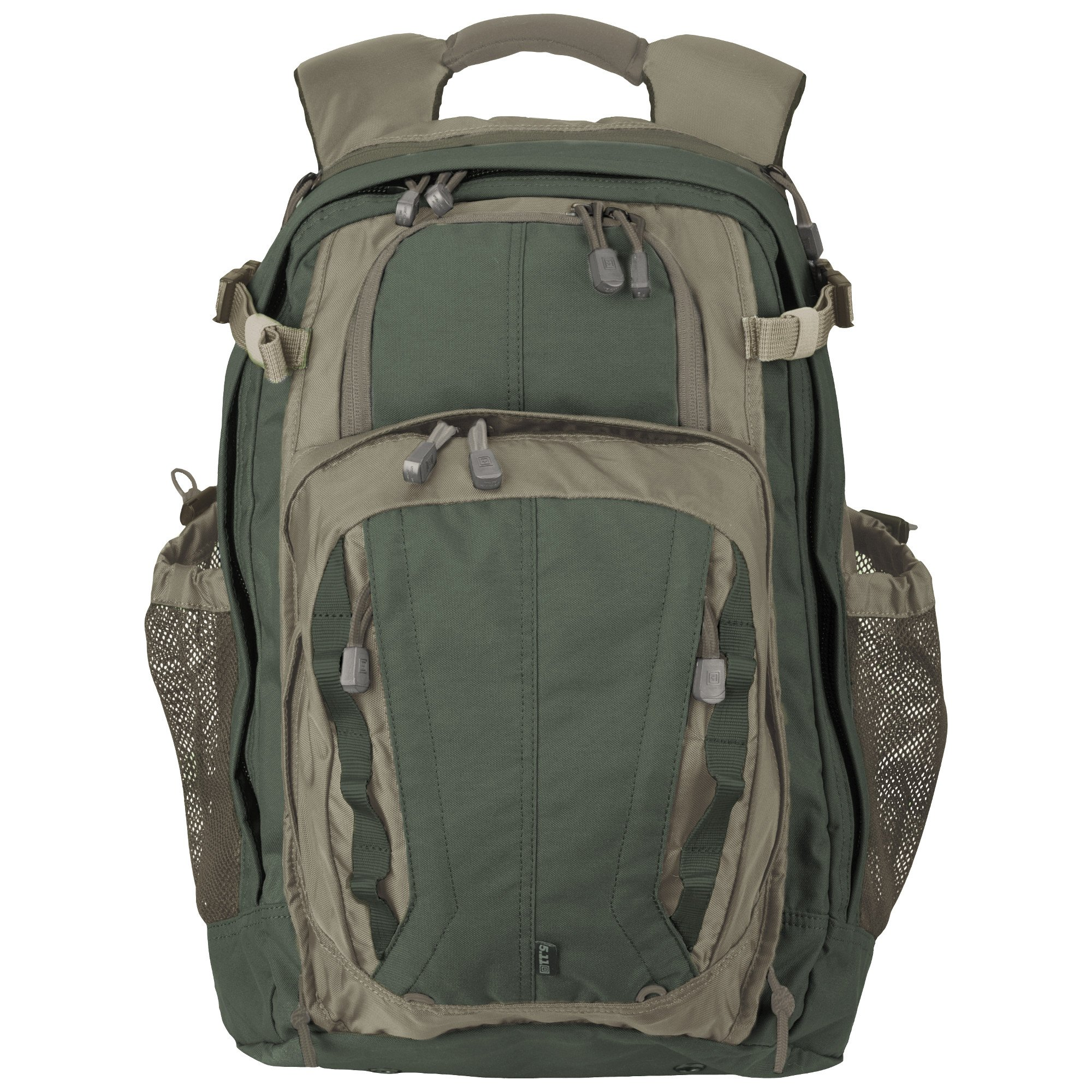 5.11 COVRT18 Tactical Covert Military Backpack, Large Assault Rucksack Pack, Style 56961, Green/Brown by 5.11