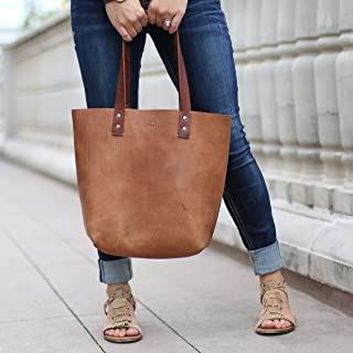 product image for The Ashley Tote Fine Leather Handbag Purse Bag in Tan