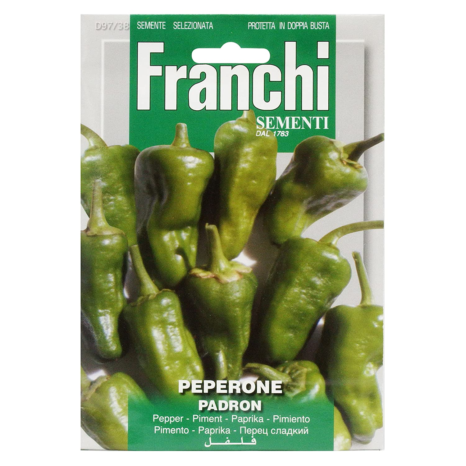 Franchi Pepper Padron Johnny HALLYDAY Seeds of Italy Ltd 97/38