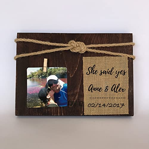 engagement picture frame proposal frame fiance gift - Engagement Photo Frame