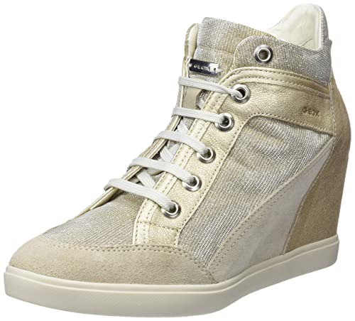 974a5c3343ea Geox Women s D Eleni C Hi-Top Trainers  Amazon.co.uk  Shoes   Bags